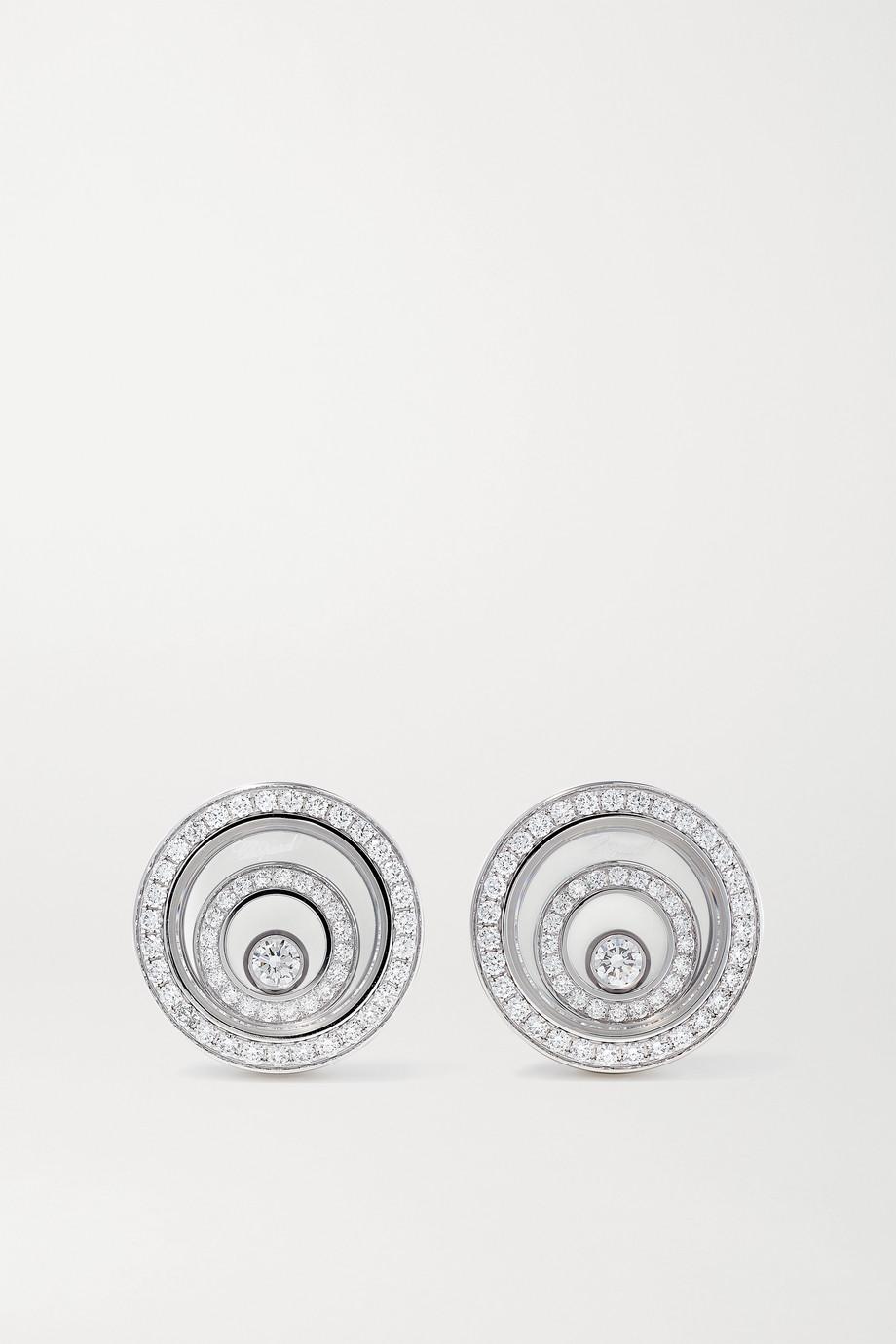 Chopard Boucles d'oreilles en or blanc 18 carats (750/1000) et diamants Happy Spirit