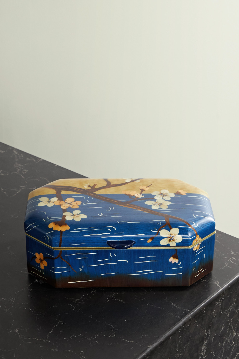 Silvia Furmanovich Marquetry wood jewelry box