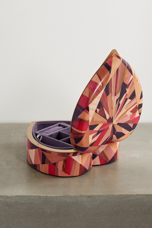 Silvia Furmanovich Marquetry wood jewelry box