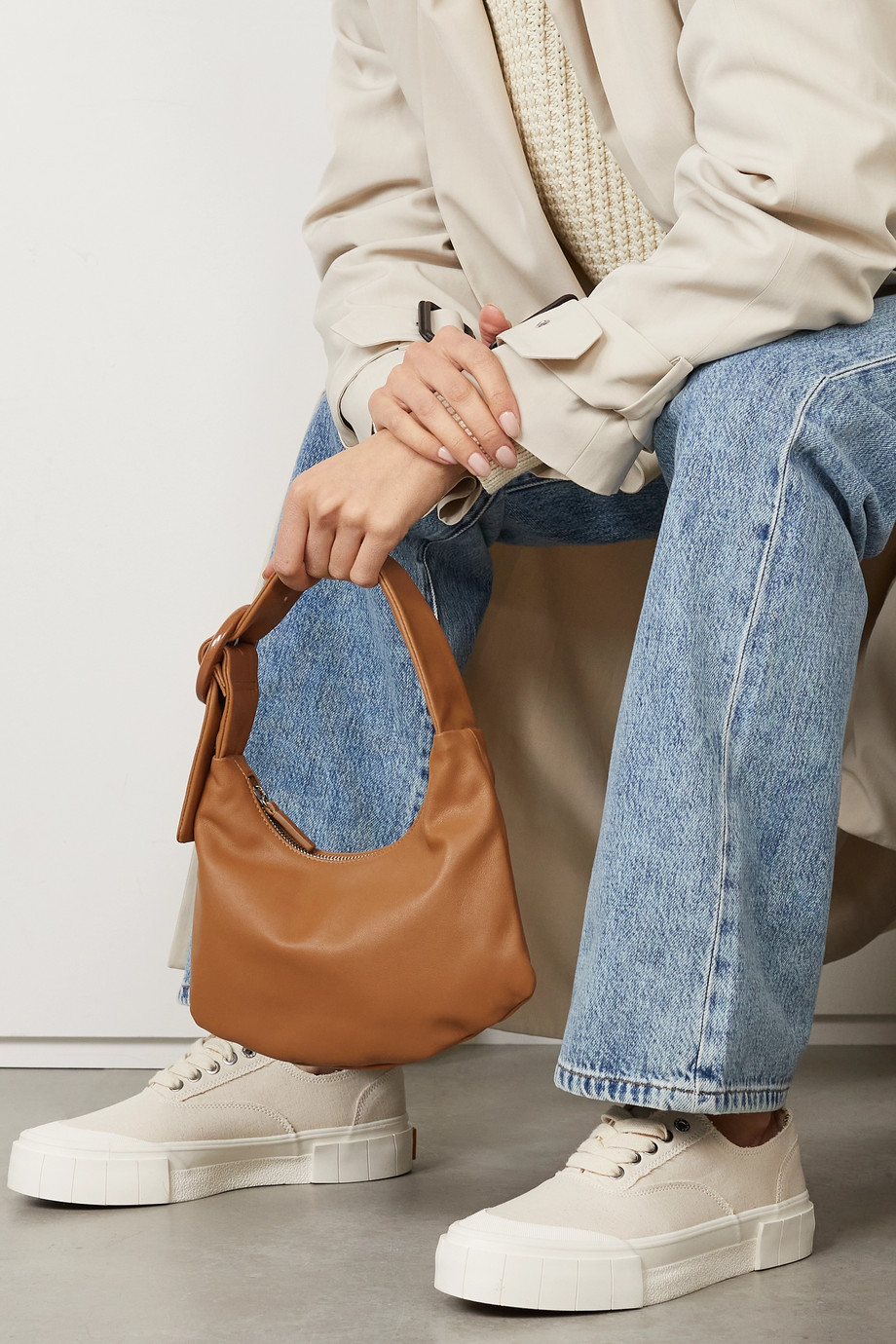 Gu_de Lisa small leather shoulder bag