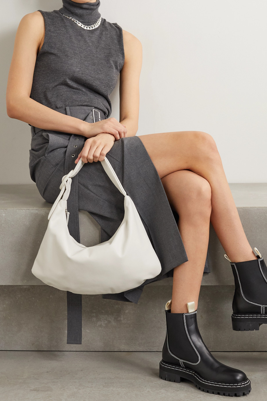 Gu_de Lisa medium leather shoulder bag