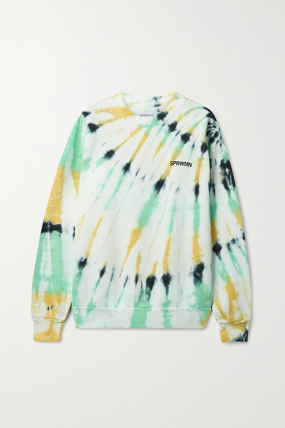 SPRWMN Sweat en jersey de coton tie & dye imprimé