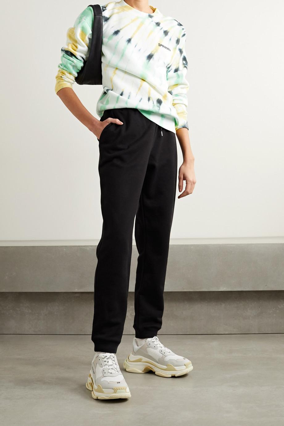 SPRWMN Printed tie-dyed cotton-jersey sweatshirt