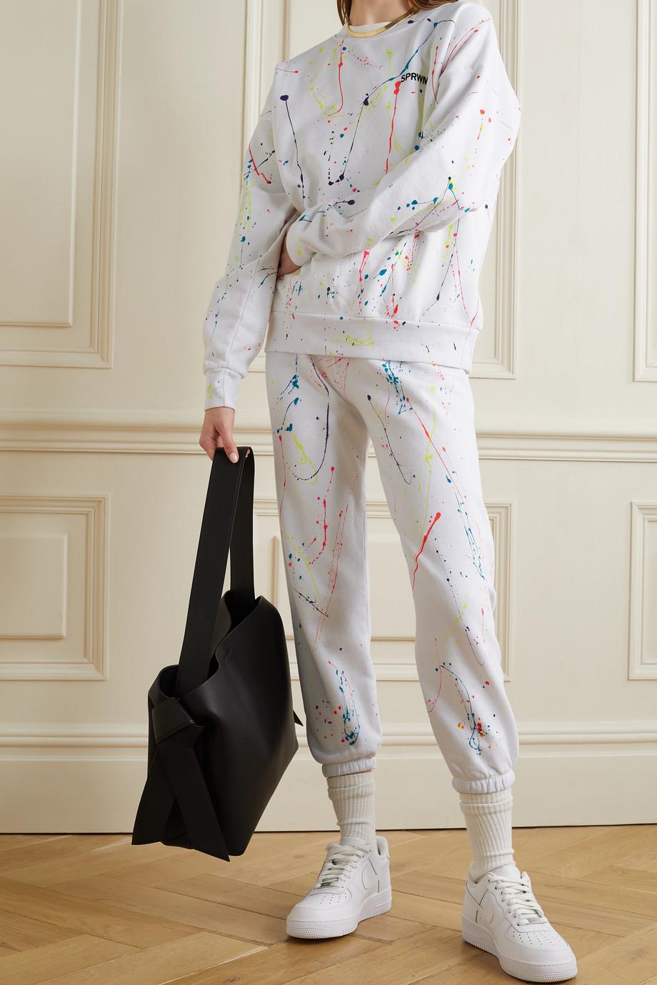 SPRWMN Pantalon de survêtement en jersey de coton imprimé