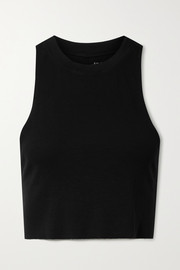 All Access Dynamic cropped stretch cotton and modal-blend jersey tank