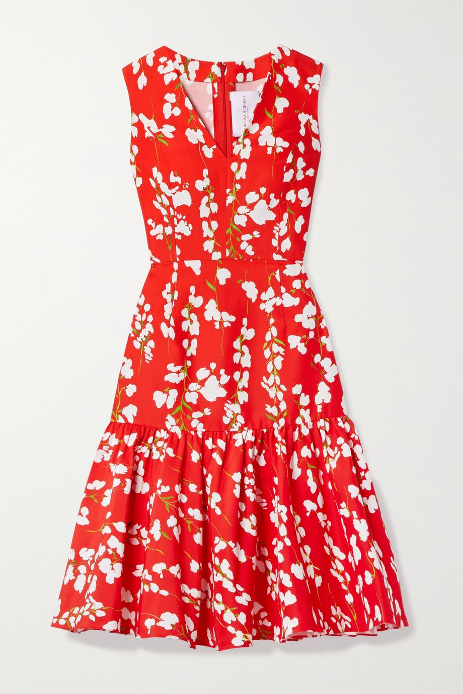 Carolina Herrera Floral-print cotton and silk-blend dress