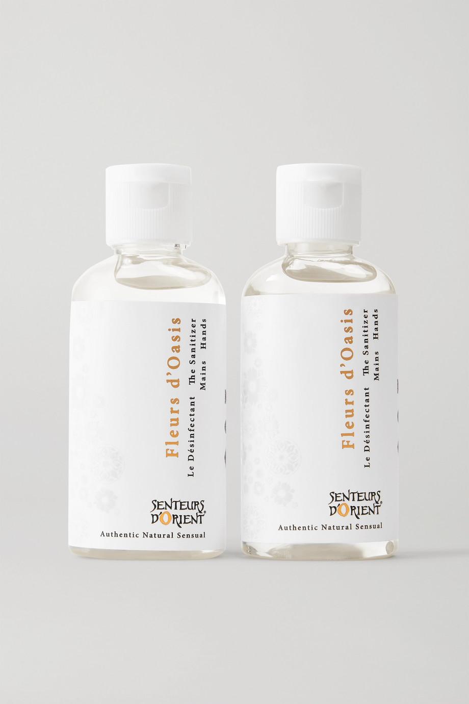 Senteurs d'Orient Fleurs d'Oasis The Sanitizer Duo, 2 x 50 ml – Antibakterielles Handgel