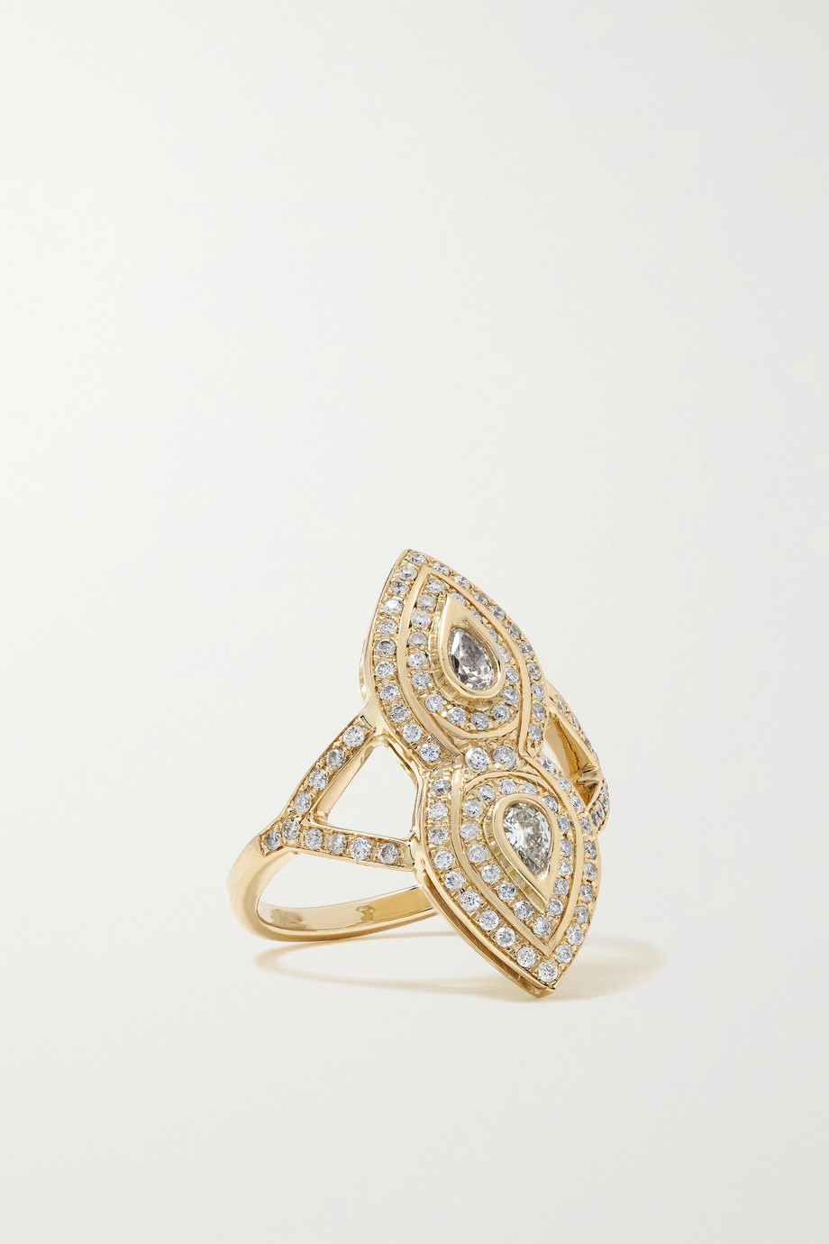 Jacquie Aiche Bague en or 14 carats et diamants