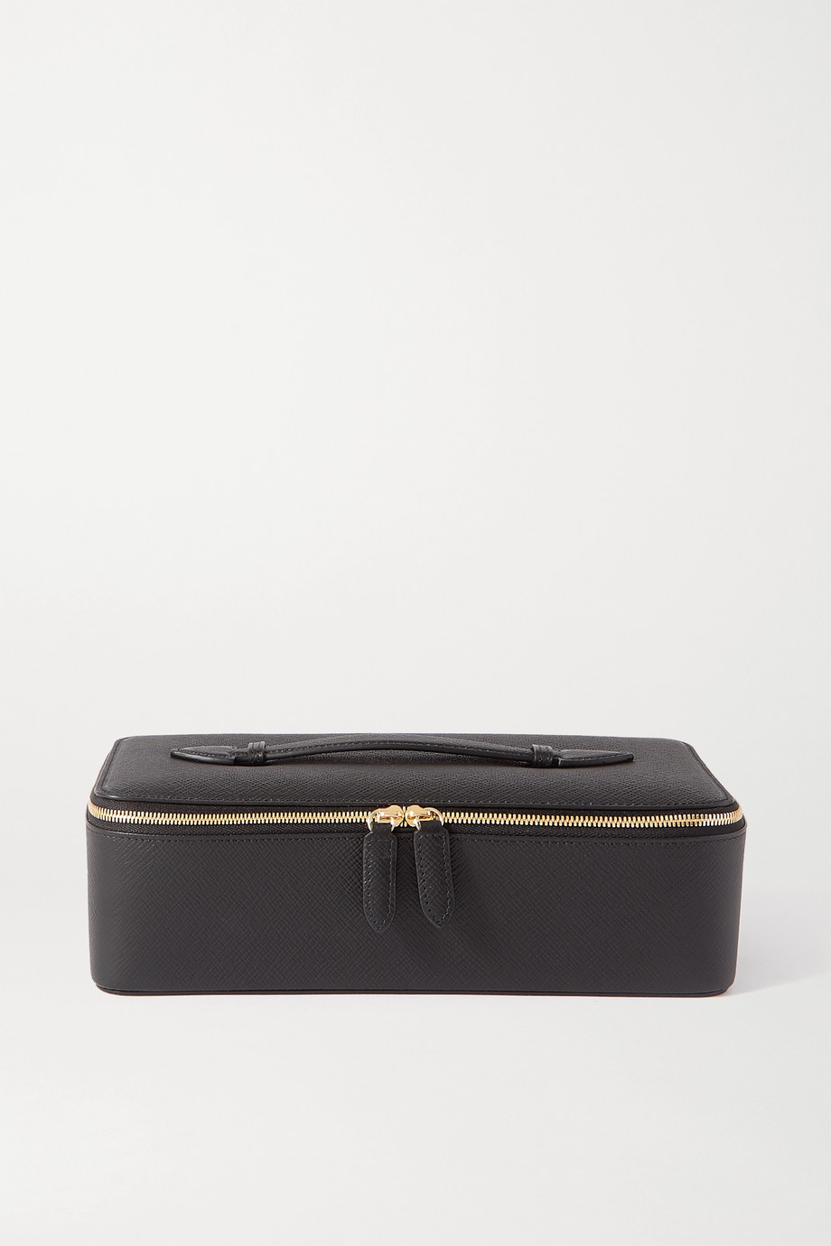 Smythson Panama textured-leather jewelry case