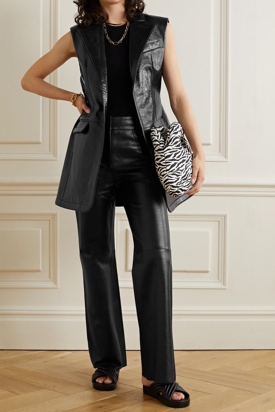 Stand Studio Eudora leather flared pants