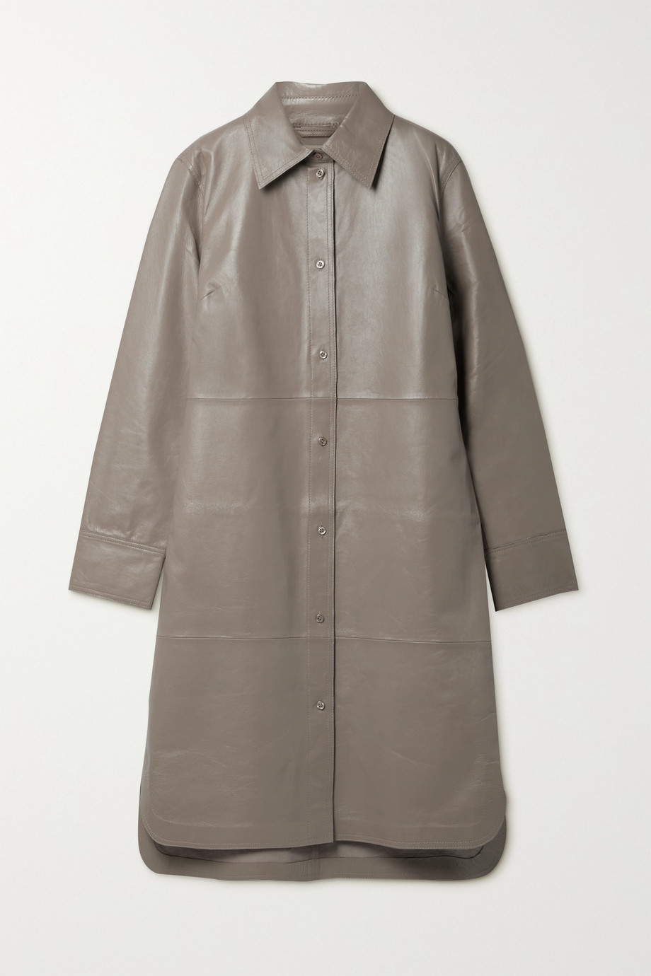 Stand Studio Remi leather shirt dress