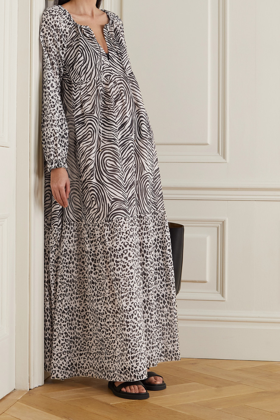 Stella McCartney + NET SUSTAIN animal-print organic cotton maxi dress