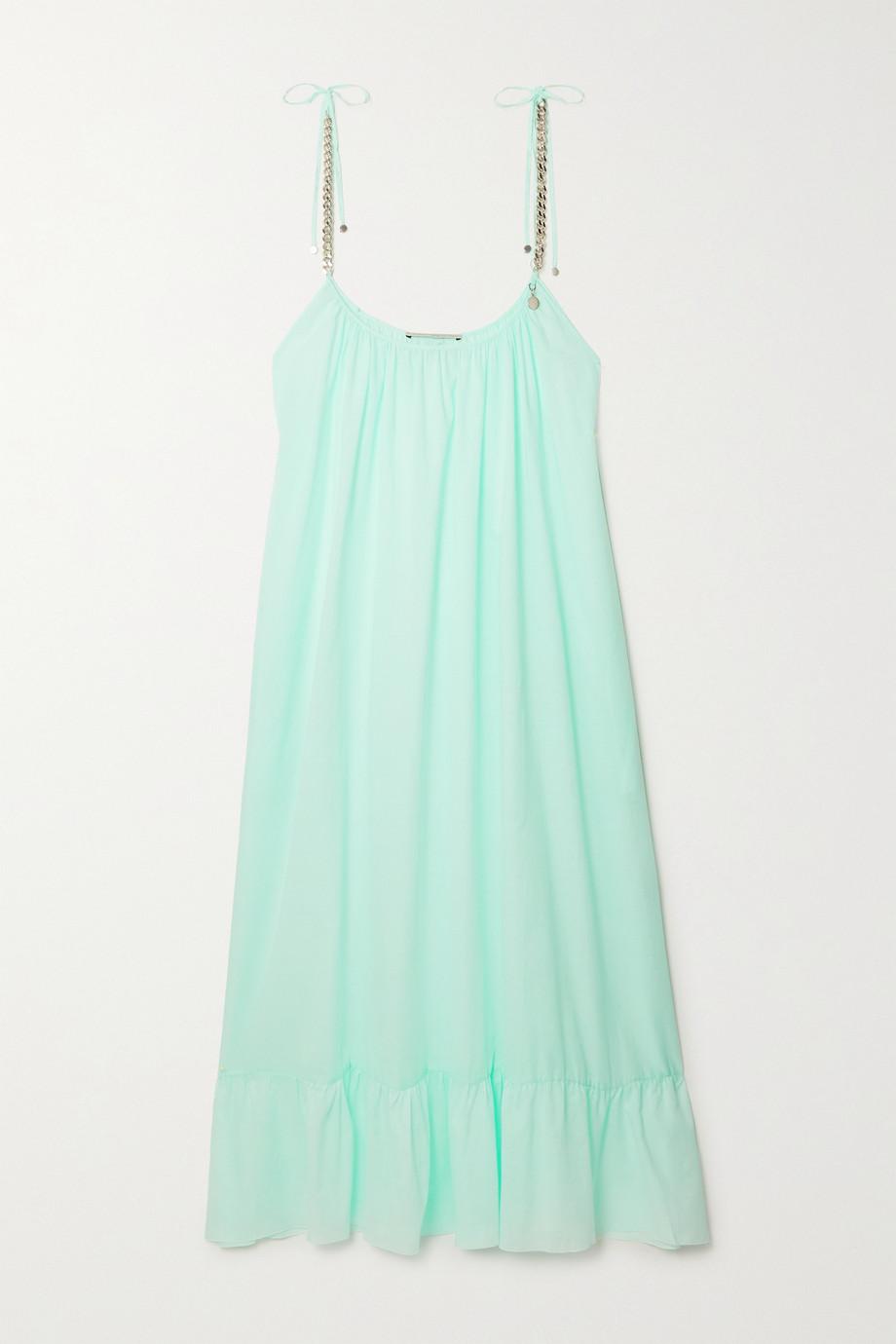 Stella McCartney + NET SUSTAIN chain-embellished organic cotton-gauze dress
