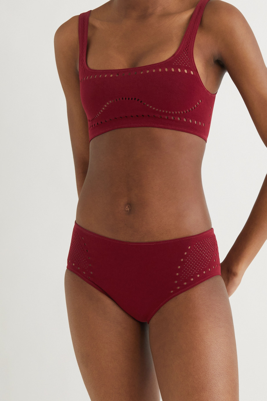 Stella McCartney + NET SUSTAIN Stellawear perforated stretch-jersey soft-cup bra