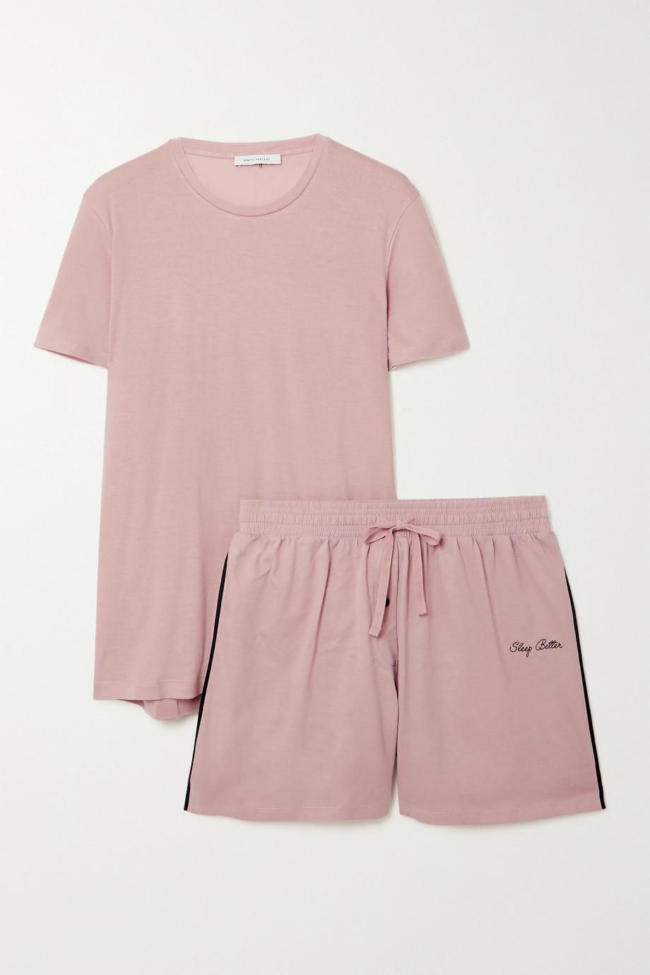 Ninety Percent + NET SUSTAIN brushed-TENCEL pajama set