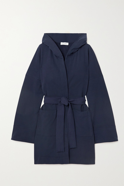 Ninety Percent + NET SUSTAIN hooded belted organic cotton-fleece robe