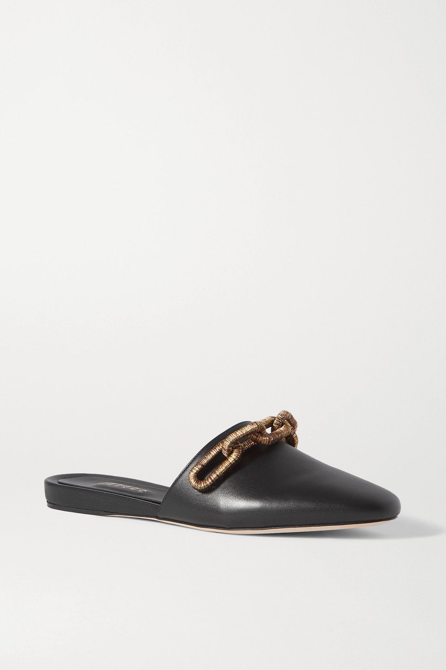 Serena Uziyel Catena embellished leather slippers