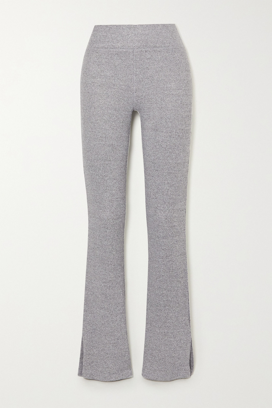 rag & bone Ribbed mélange stretch-knit flared pants