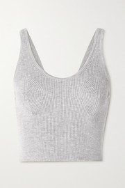 Cordova Cropped ribbed merino wool tank