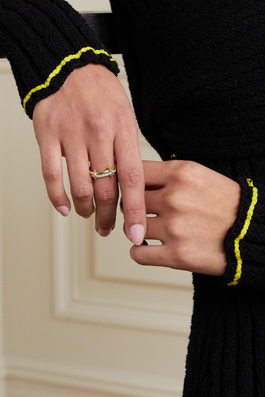 Spinelli Kilcollin Ceres Deux set of two 18-karat gold diamond rings