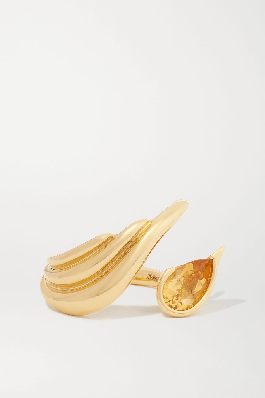 Fernando Jorge Kindle Ring aus 18 Karat Gold mit Citrin