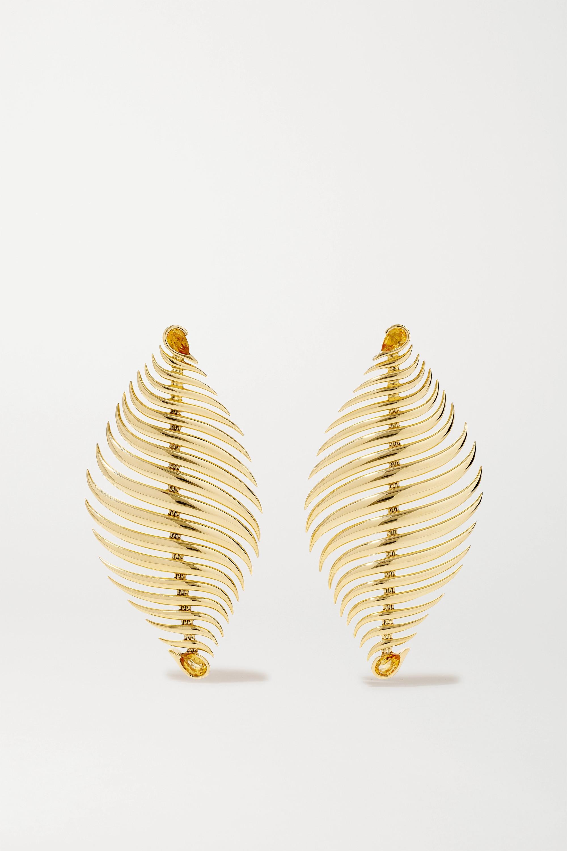 Fernando Jorge Blaze 18-karat gold citrine earrings