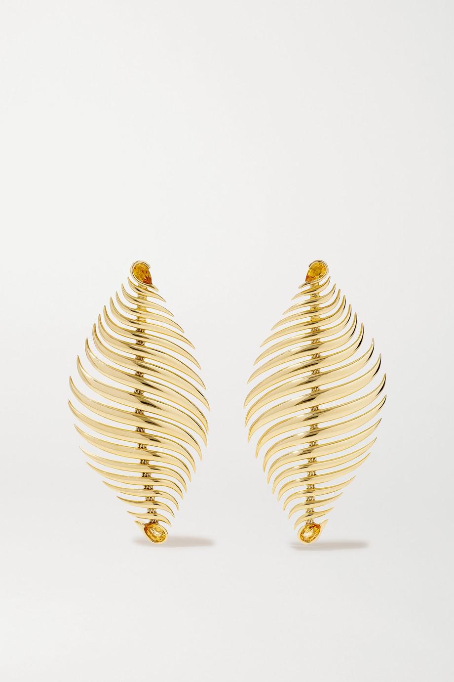 Fernando Jorge Blaze Ohrringe aus 18 Karat Gold mit Citrinen