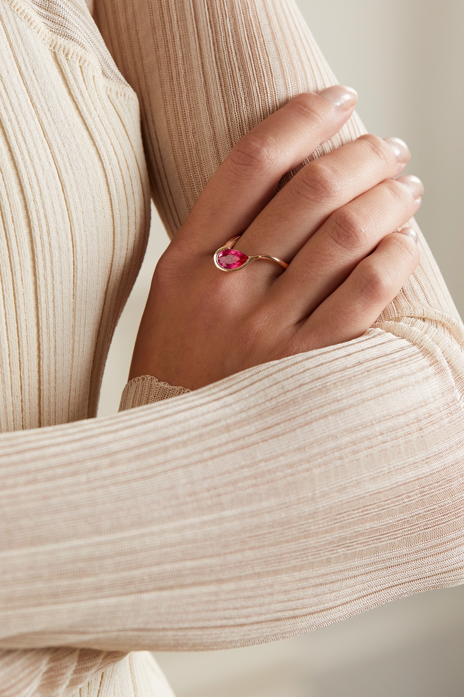 Fernando Jorge Ignite 18-karat rose gold rubellite ring