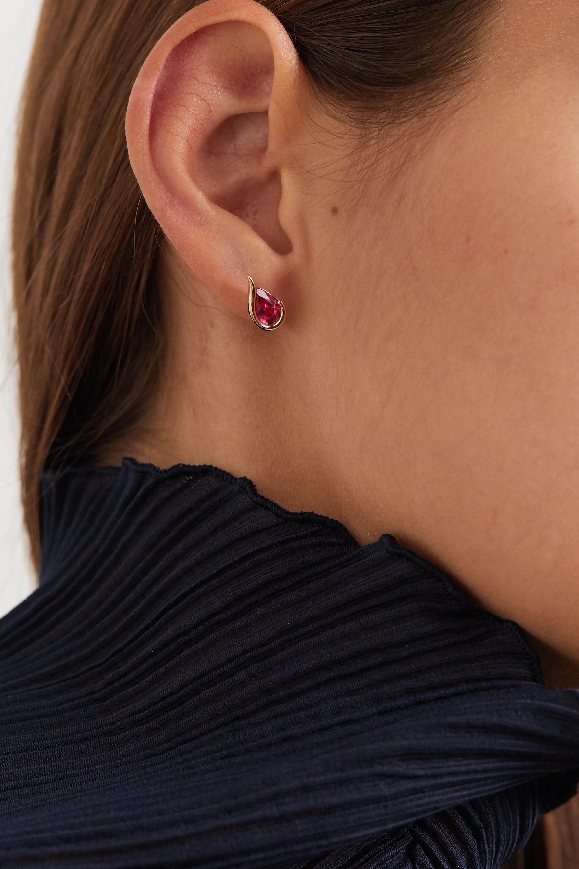 Fernando Jorge Ignite 18-karat rose gold rubelite earrings