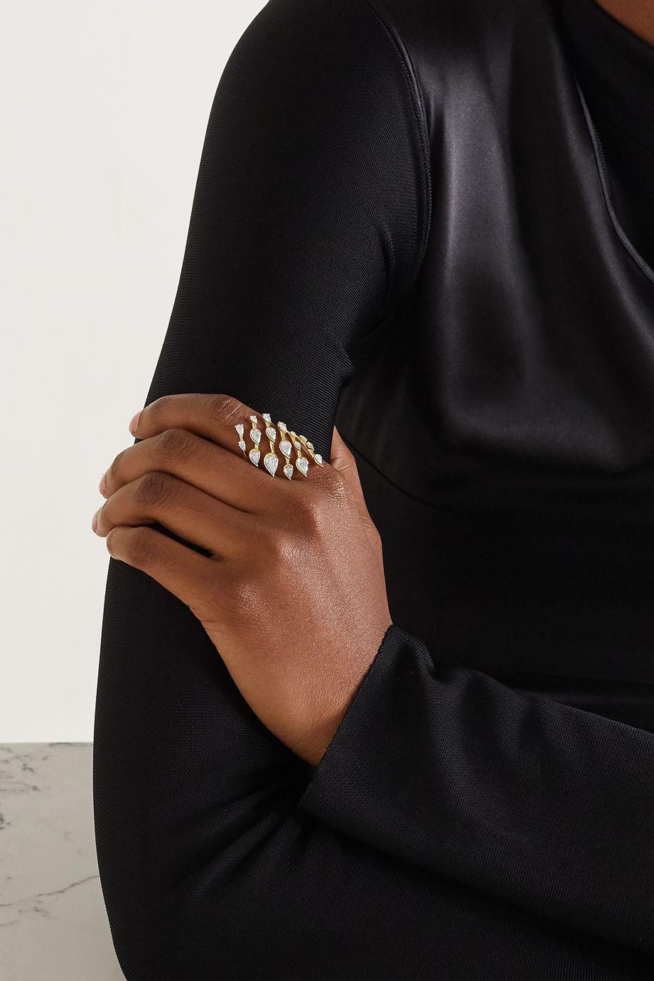 Fernando Jorge Flare Small 18-karat gold diamond ring