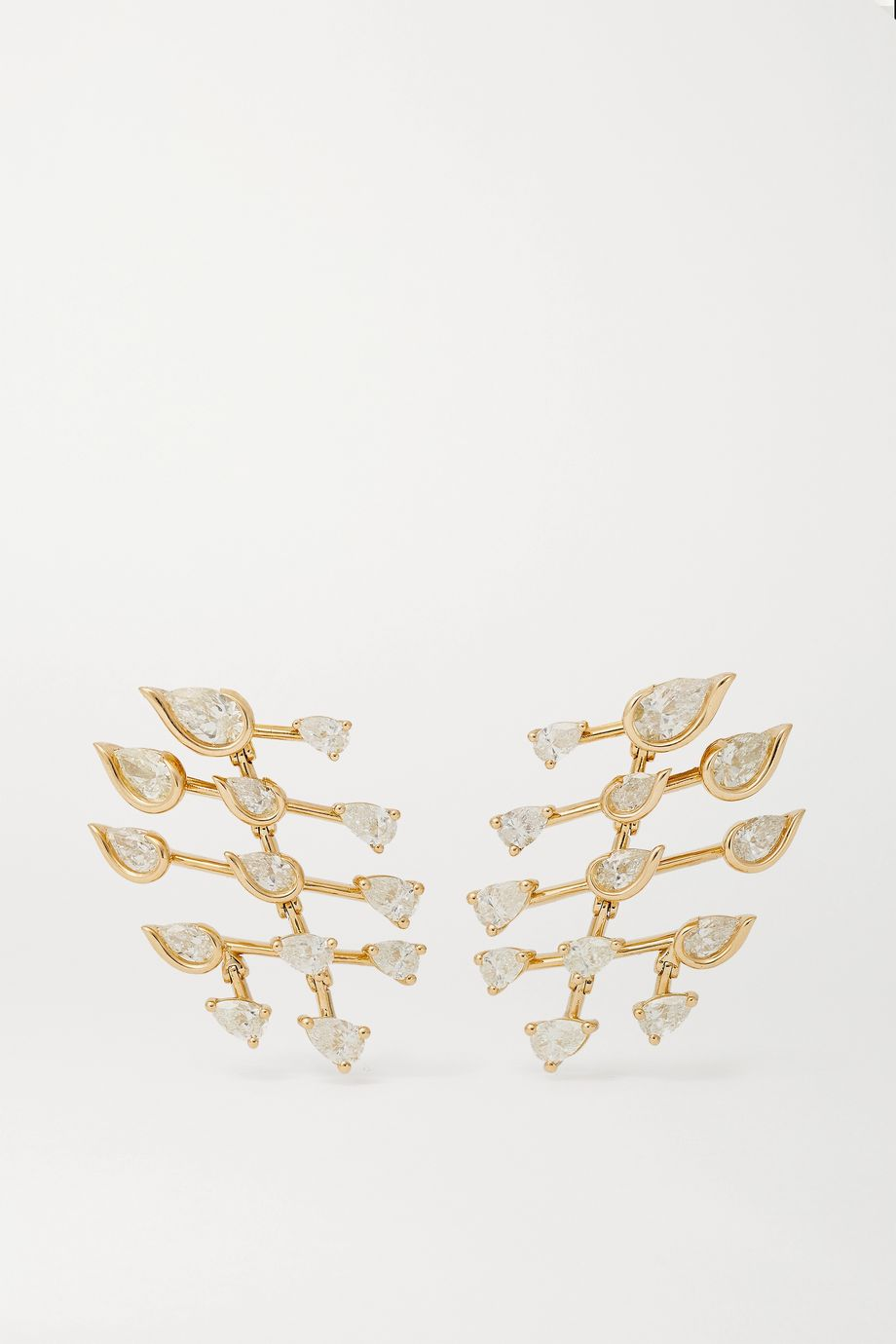 Fernando Jorge Flare Small 18-karat gold diamond earrings