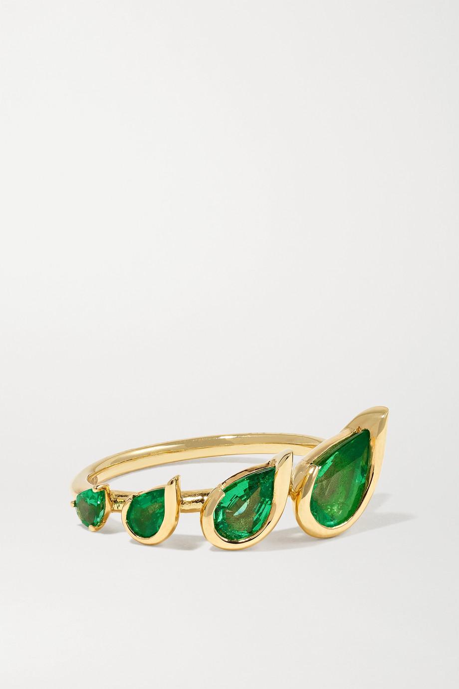 Fernando Jorge Flicker 18-karat gold emerald ring