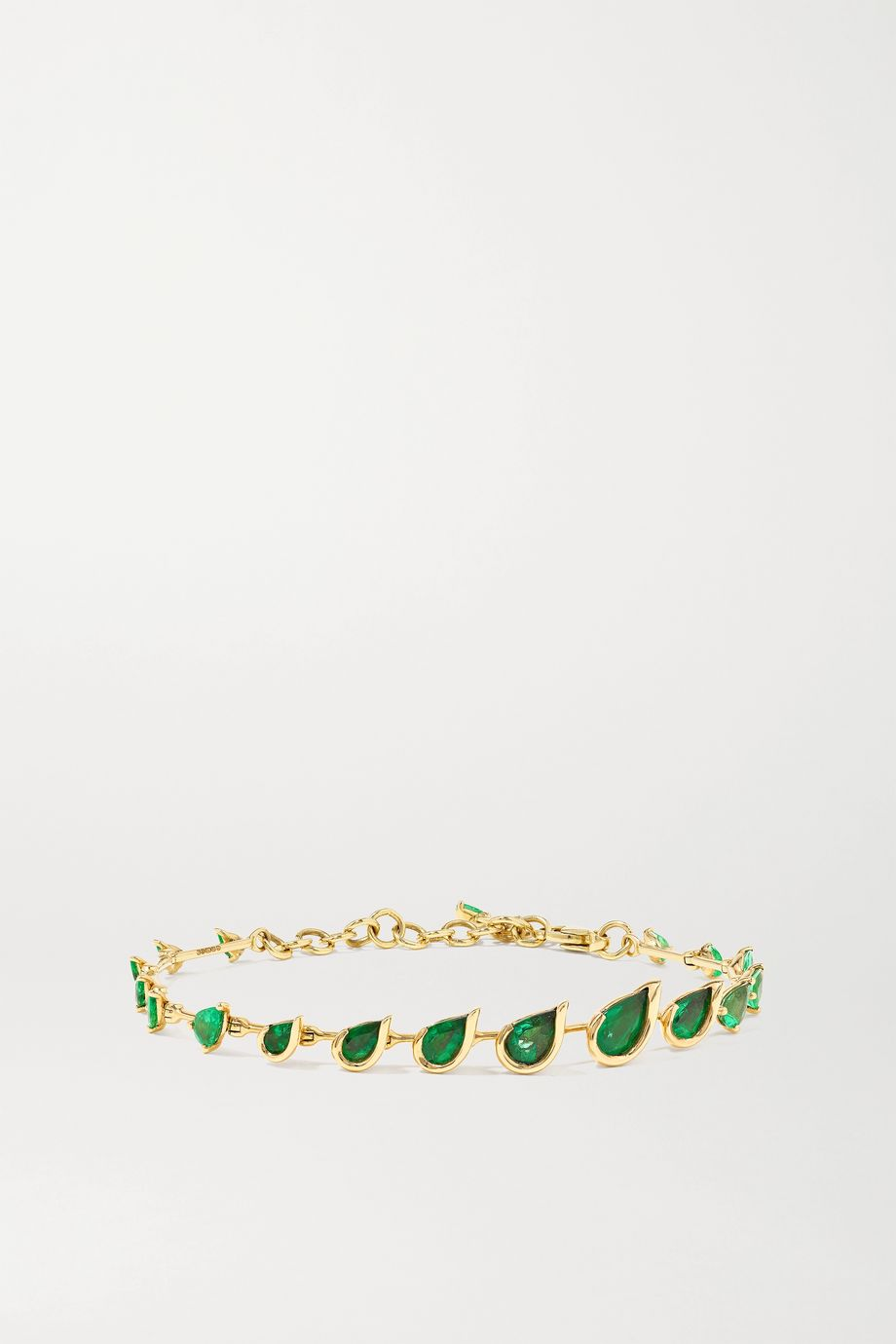 Fernando Jorge Flicker 18-karat gold emerald bracelet