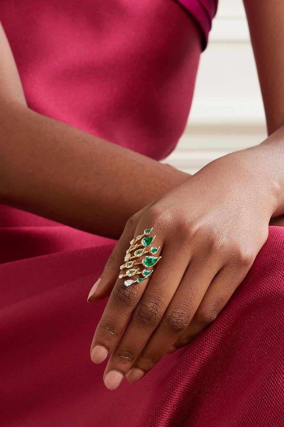 Fernando Jorge Flare 18-karat gold multi-stone ring
