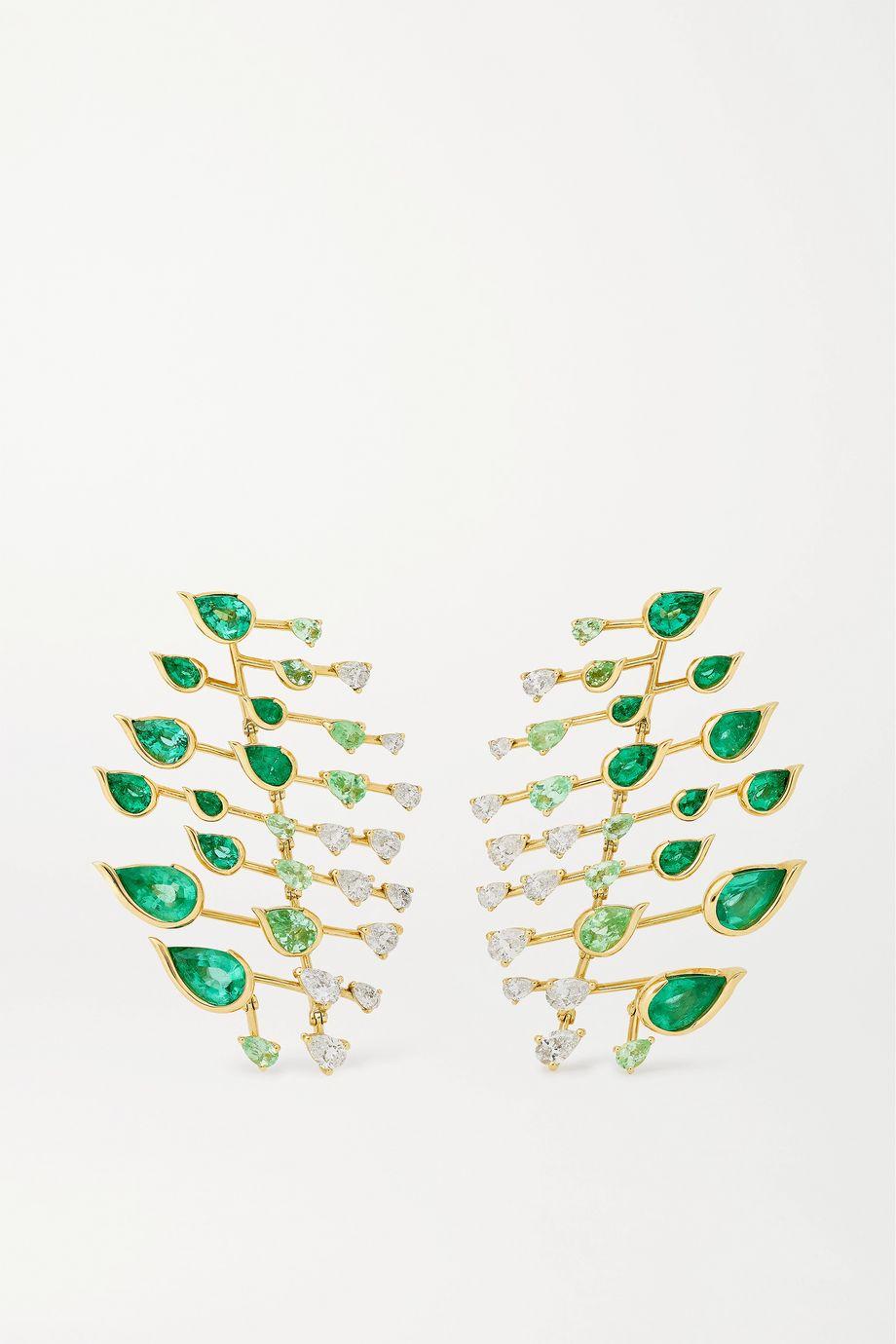 Fernando Jorge Flare 18-karat gold multi-stone earrings