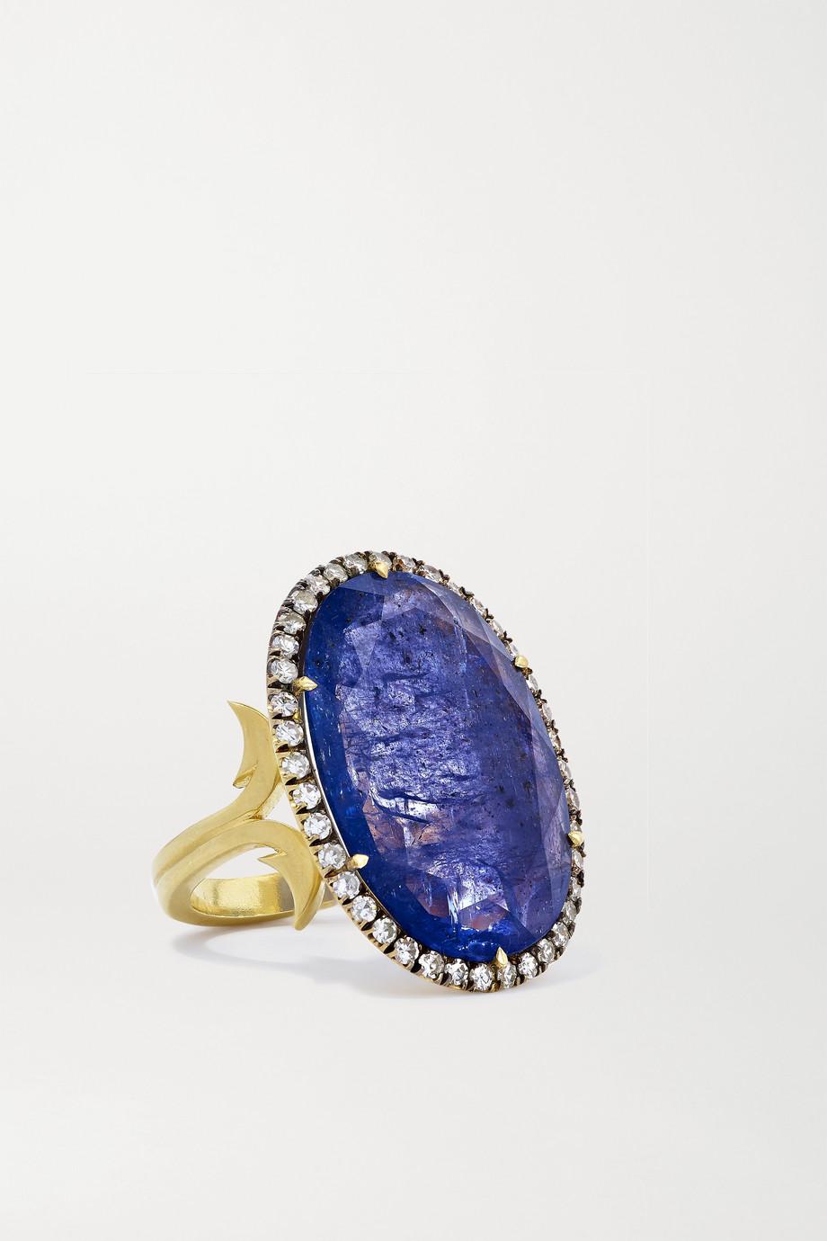 Sylva & Cie Bague en or 18 carats, tanzanite et diamants Decade