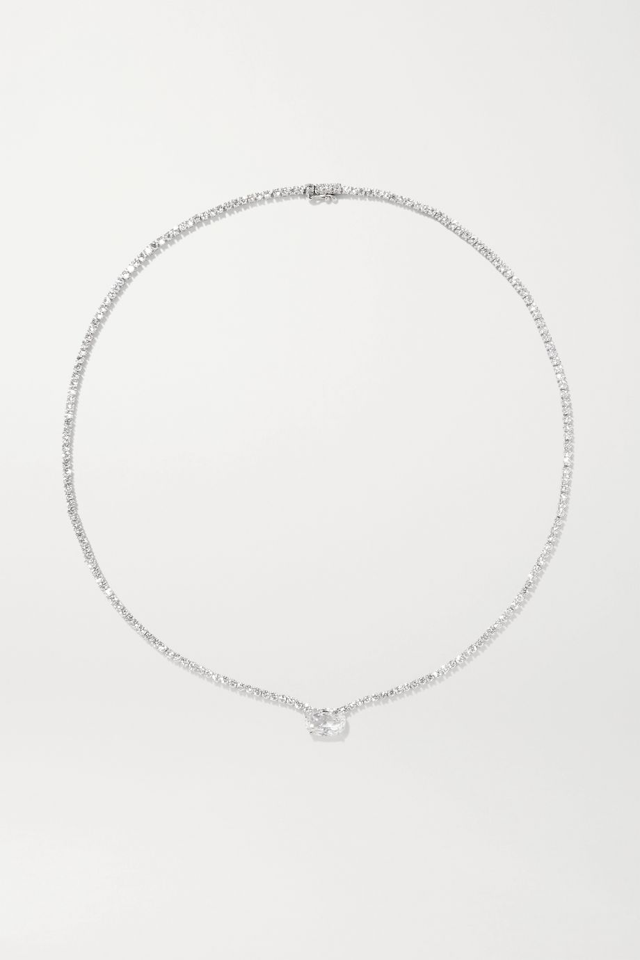Anita Ko 18-karat white gold diamond choker