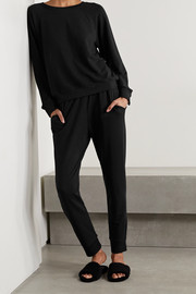 Eberjey Blair stretch Pima cotton and modal-blend sweatshirt and track pants set