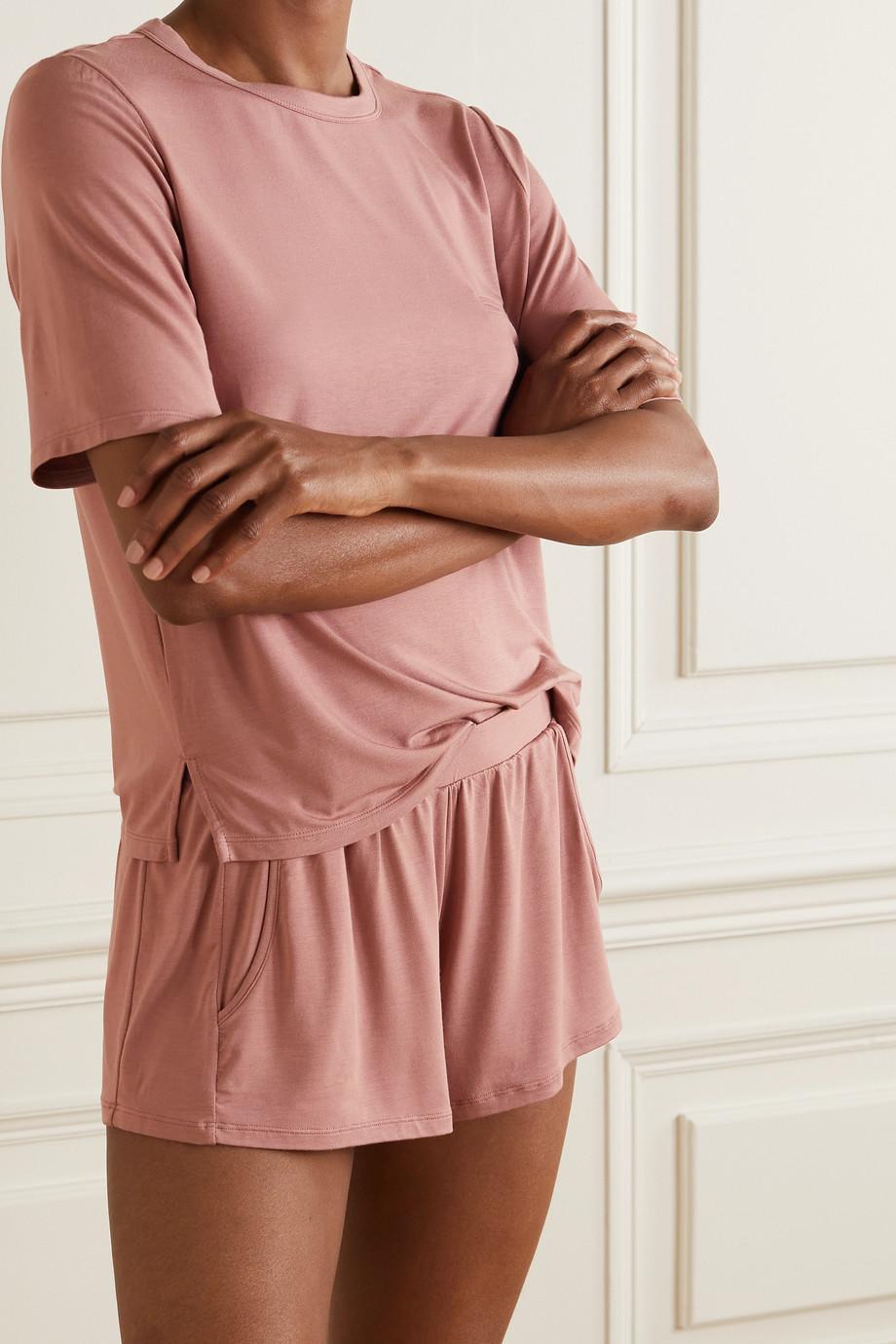 Eberjey Finley stretch-bamboo jersey pajama set