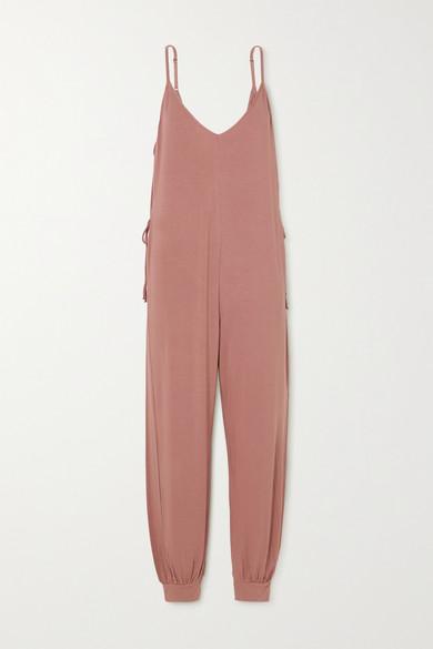 Eberjey Activewears FINLEY TIE-DETAILED STRETCH-JERSEY JUMPSUIT