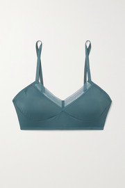 ELSE Nano lace-trimmed stretch-jersey soft-cup bra