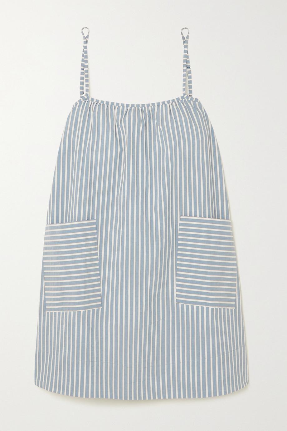 ELSE Hamptons gestreiftes Nachthemd aus Baumwollpopeline