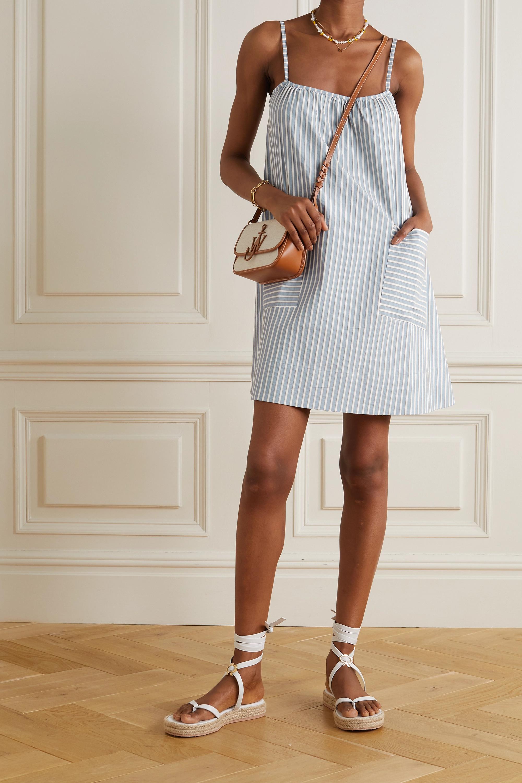 ELSE Hamptons striped cotton-poplin nightdress