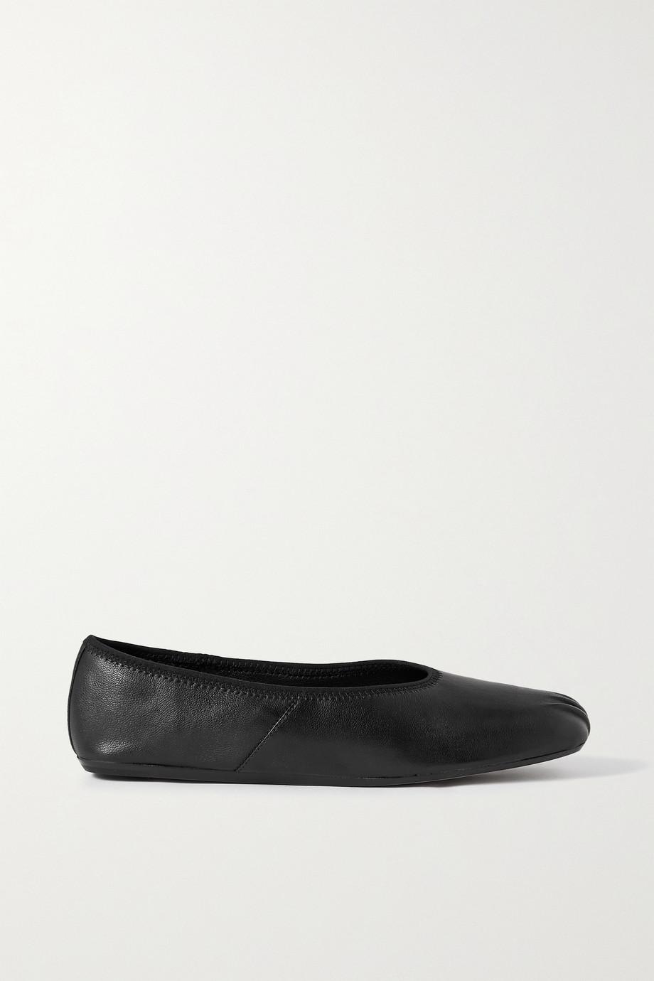Vince Kiana gathered leather ballet flats