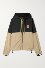 P.E NATION Propel hooded two-tone shell jacket