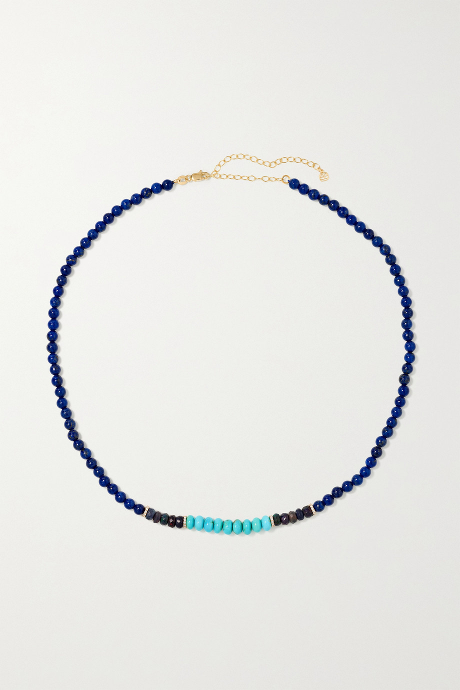 Sydney Evan 14-karat gold multi-stone necklace