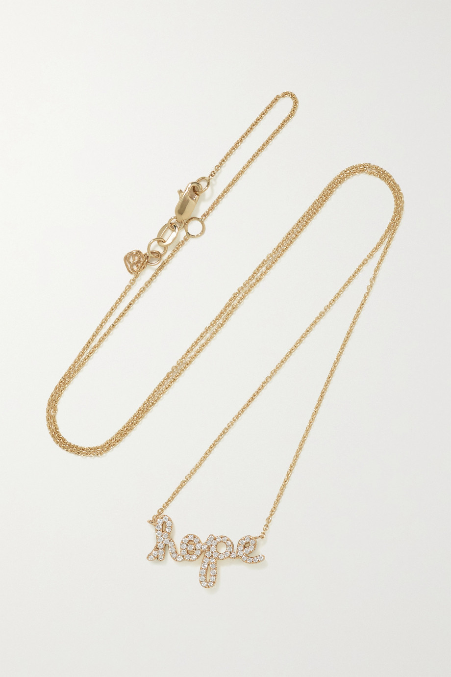 Sydney Evan Hope 14-karat gold diamond necklace