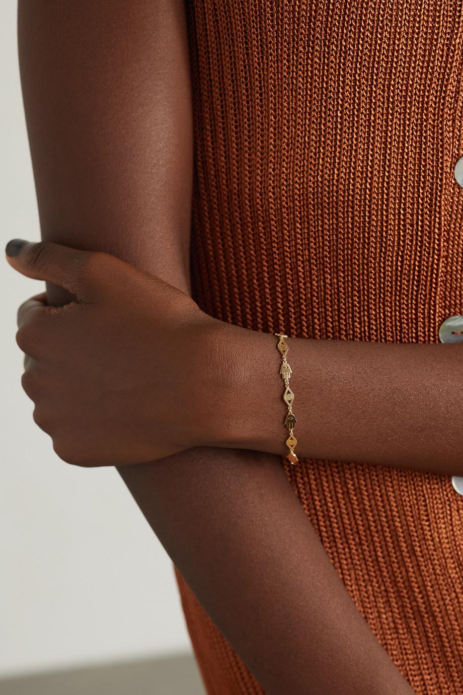 Sydney Evan Tiny Pure 14-karat gold bracelet