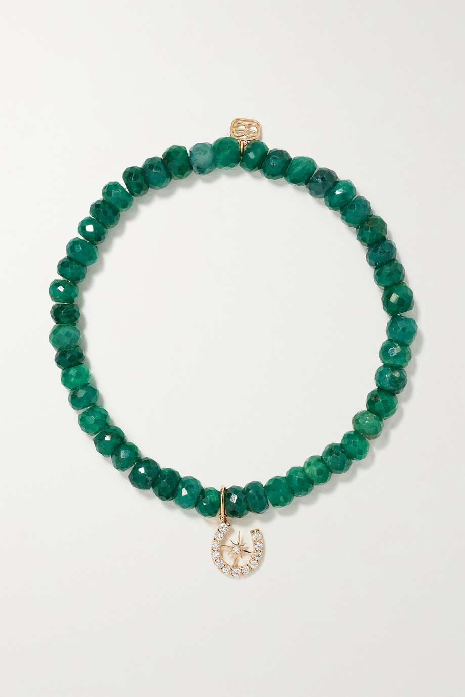 Sydney Evan Starburst Horseshoe 14-karat gold, corundum and diamond bracelet