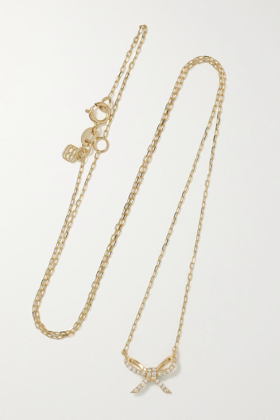Sydney Evan Collier en or 14 carats et diamants Bow